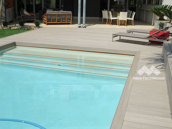 waterproof outdoor composite decking, suitable for hot and cold weather