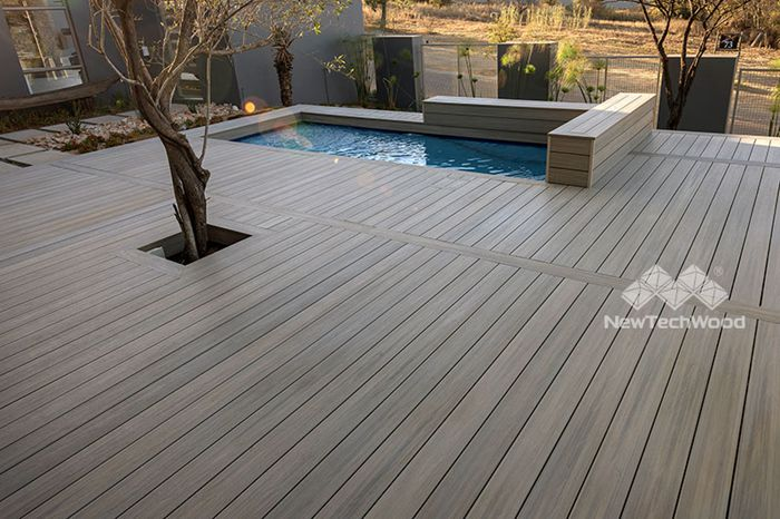 Water resistant composite decking